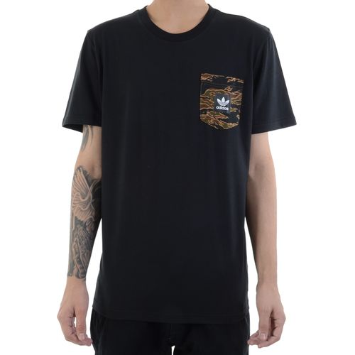 Camiseta-Adidas-Pocket-Camouflage-Preta