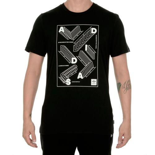 Camiseta-Adidas-Noir-Preta