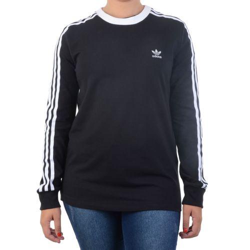 Blusa-Adidas-3-STR-LS-Tee-Preta