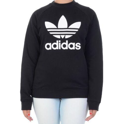 Moletom-Adidas-Trefoil-Crew-Sweat-Preto