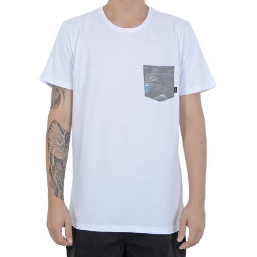 Camiseta-Quiksilver-Pocket-Flower-Branca