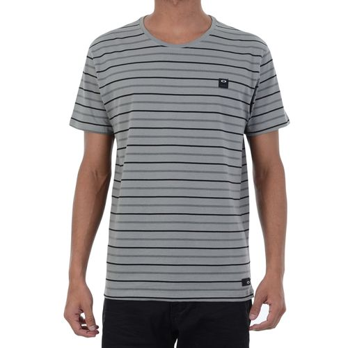 Camiseta-Oakley-Elevated-Striped-Cinza