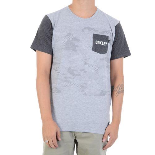 Camiseta-Oakley-Highest-Camo-Cinza
