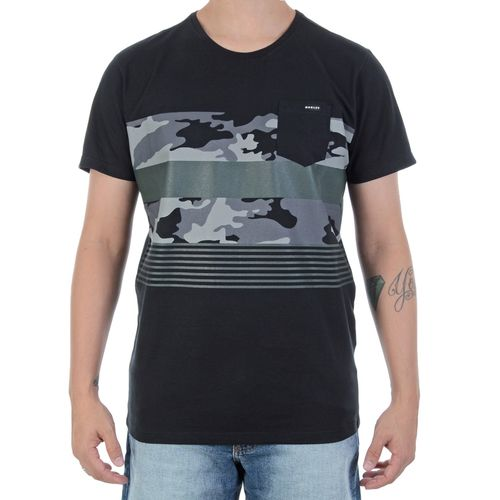 Camiseta-Oakley-Camo-Print-Preta