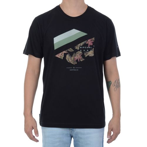 Camiseta-Rip-Curl-Tri-Hex-Preta