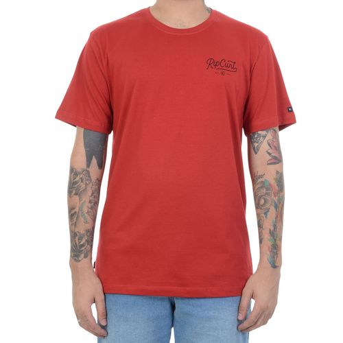 Camiseta-Rip-Curl-Customs-Vermelha