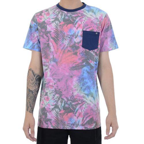 Camiseta-Billabong-Flowersdye-Rosa