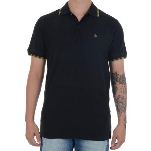 Camiseta-Polo-Volcom-Onetone-Preta