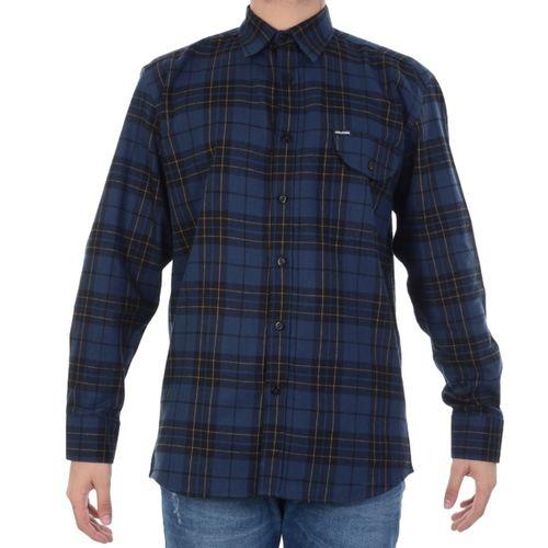 Camisa-Volcom-Plaid-Enough-Marinho