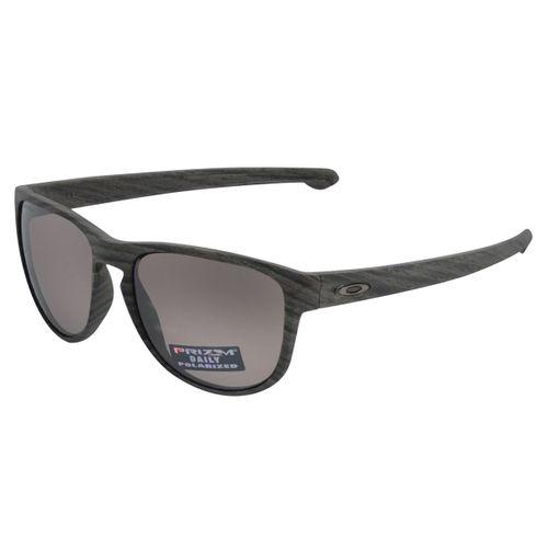 Oculos-Oakley-Sliver-R-Woodgrain-Prizm-Polarizado-Chumbo
