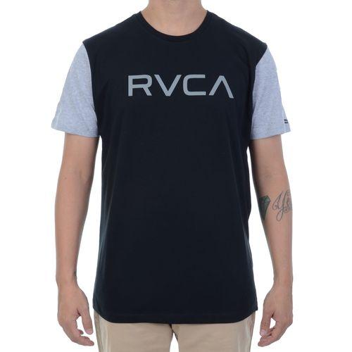 Camiseta-RVCA-Bi-Color-Preta