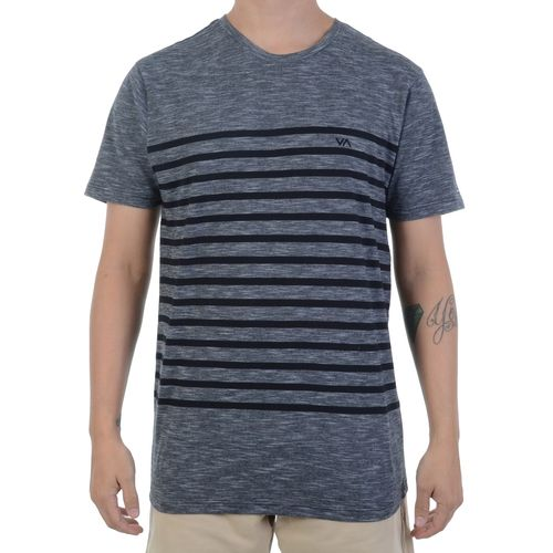 Camiseta-RVCA-Dean-Stripe-Preta