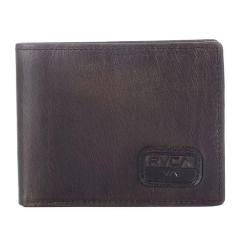 Carteira-RVCA-Dispatch-Leather-Marrom