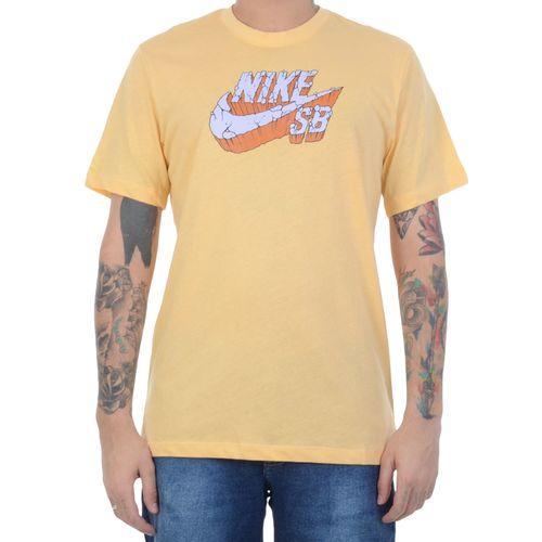 Camiseta-Nike-SB-Stone-Grey-Amarela