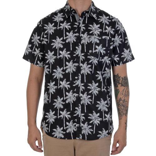 camisa-manga-curta-hurley-palms-preta