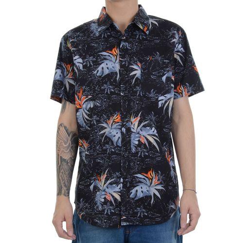 camisa-manga-curta-oneill-leaf-preta