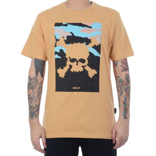 Camiseta-Oakley-Classic-Skull-Amarela