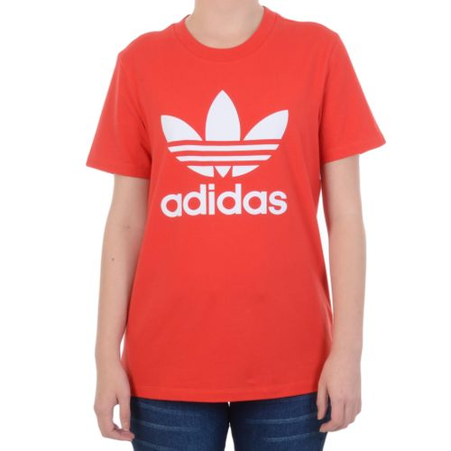 Baby-Look-Adidas-Trefoil-Tee-Vermelha