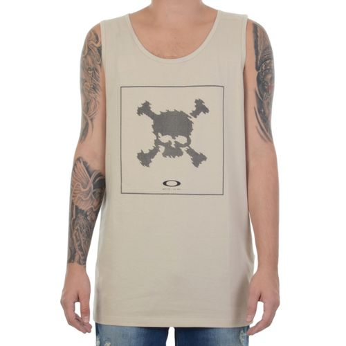 Camiseta-Regata-Oakley-Digi-Skull-Tank-Bege
