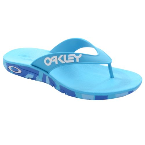 Chinelo-Oakley-Rest-II-Mark-Camuflado-Azul-