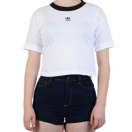 Blusa-Adidas-Baby-Look-Crop-Top-Branco