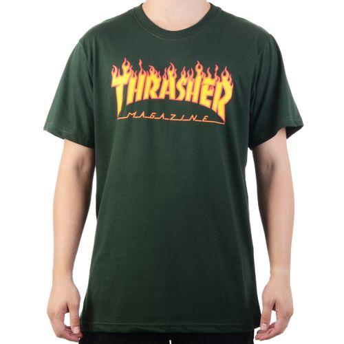 Camiseta-Thrasher-Flame-Logo---VERDE-FOREST