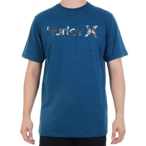 Camiseta-Hurley-Logo-Floral-Marinho