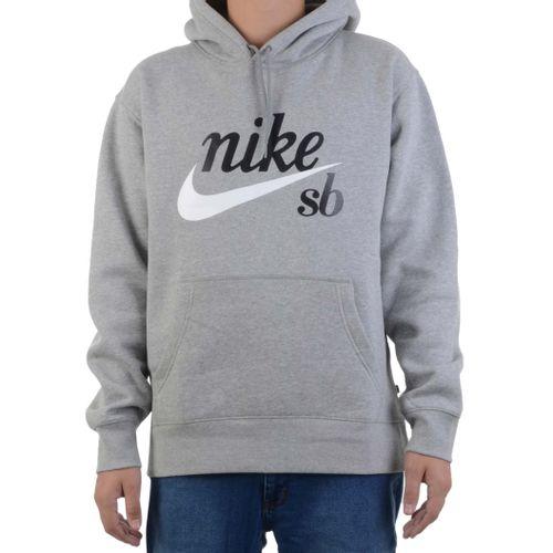 Moletom-Nike-SB-Canguru-Cinza