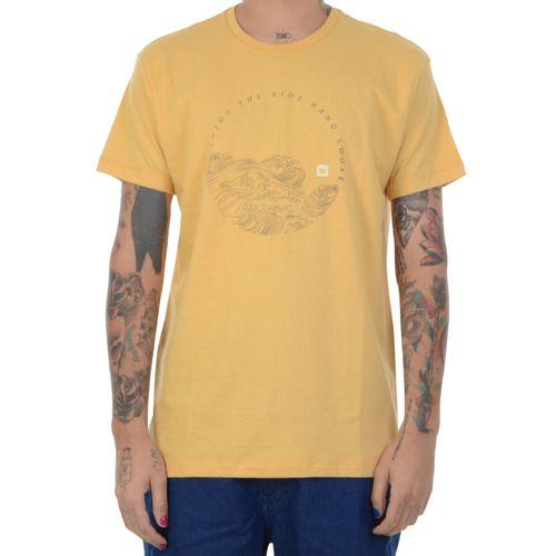 Camiseta-Hang-Loose-Olas-amarelo
