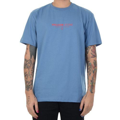 Camiseta-Volcom-Clock-Worker-azul