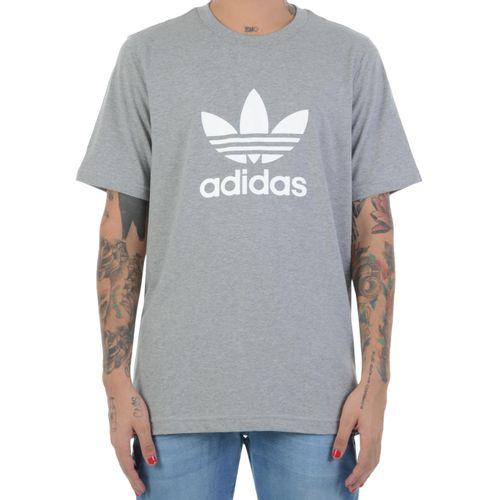 Camiseta-Adidas-Trefoil-Cinza
