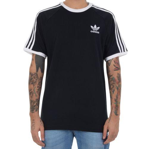 Camiseta-Adidas-3-Stripes-Preto-com-branco