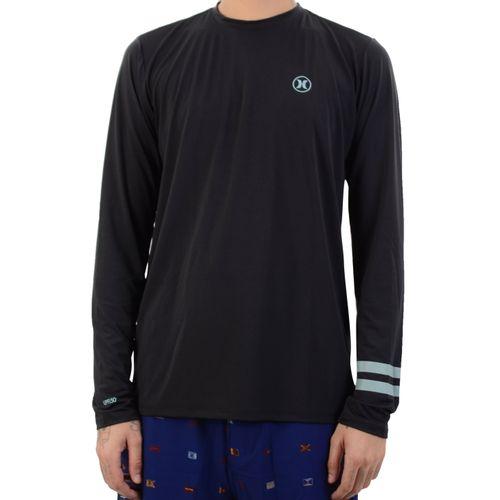 Camiseta-Hurley-Lycra-Surf-Tee-Block-Preto