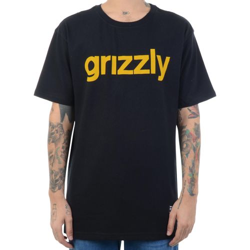 Camiseta-Grizzly-Lowercase-Preto-Amarelo