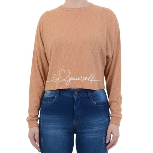 Blusa-Tricats-Love-Yourself-Bege