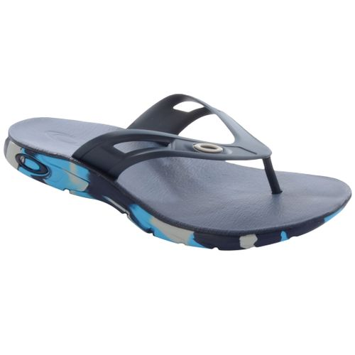 Chinelo-Oakley-Rest-Camo-Azul