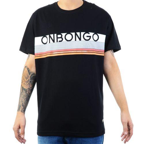 Camiseta-Onbongo-Horizon-Stripes---PRETO