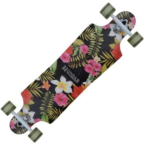 Skate-Longboard-Hondar-Freestyle-Floral-40---Preto