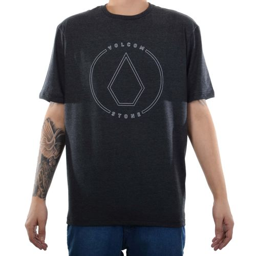 Camiseta-Volcom-Rimstone-Preto-Mescla