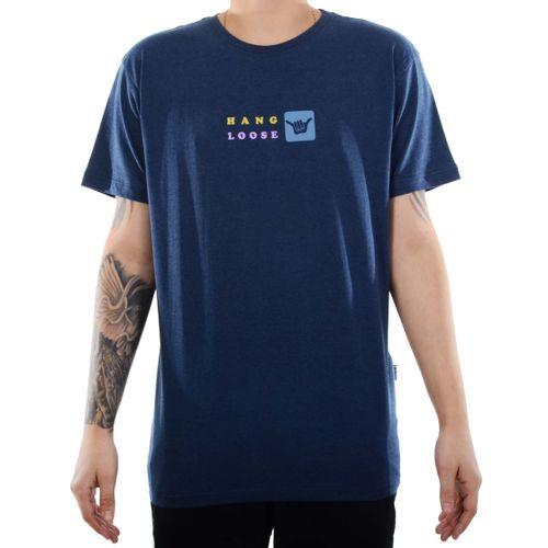 Camiseta-Hang-Loose-Aloha-Mescla-Azul