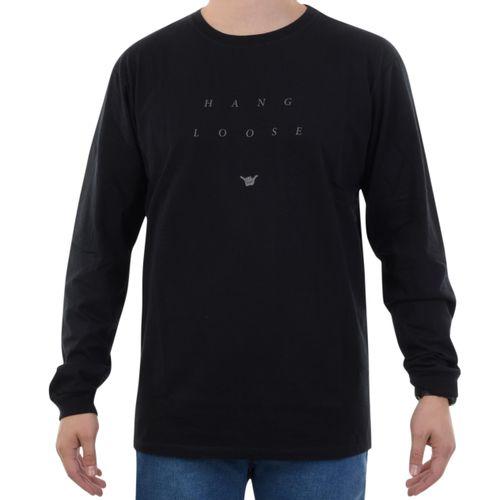Camiseta-Manga-Longa-Hang-Loose-Mood-Preto